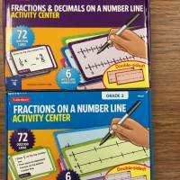 Fractions and decimals on a number line activity center